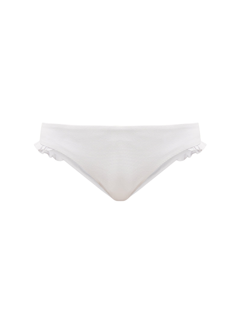 RUFFLE BOTTOM WHITE