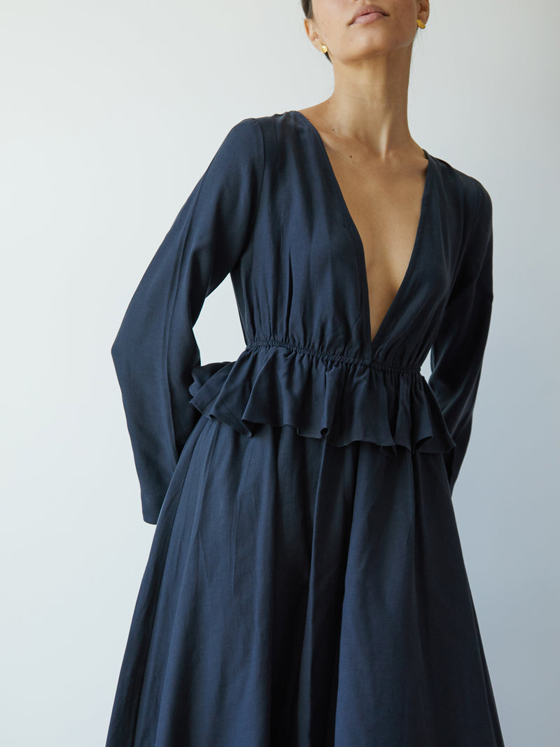 EVA DRESS MIDNIGHT NAVY
