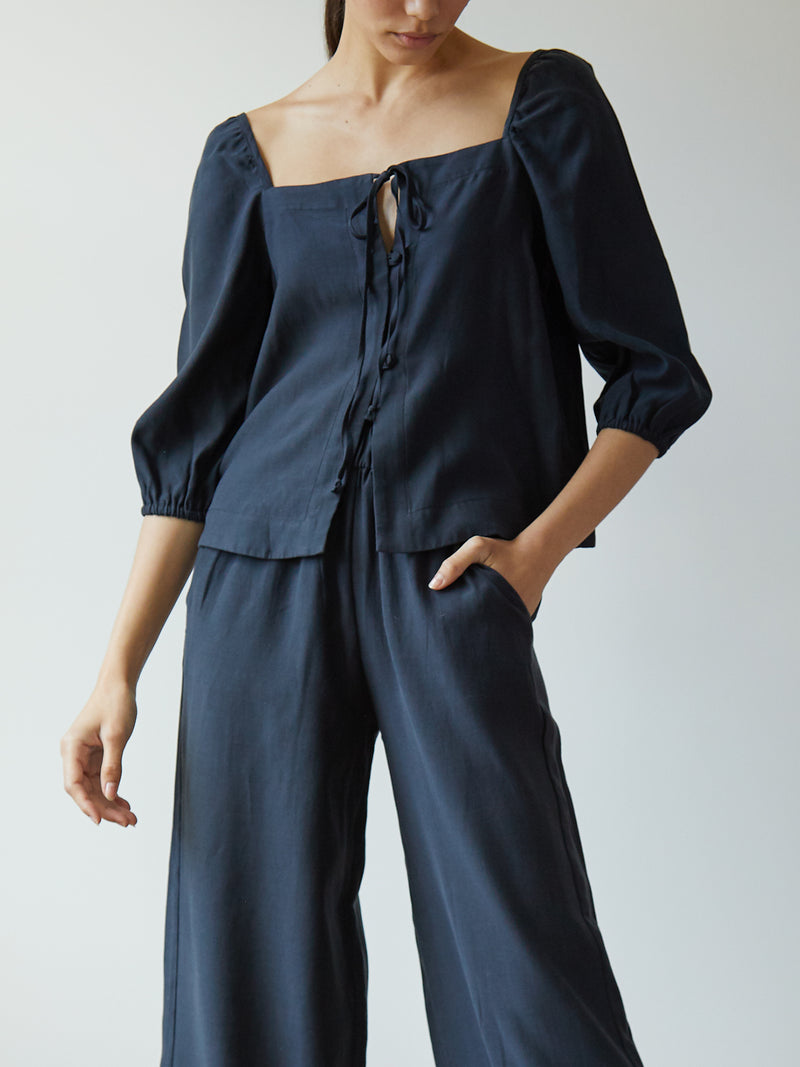 NICOLA TOP MIDNIGHT NAVY