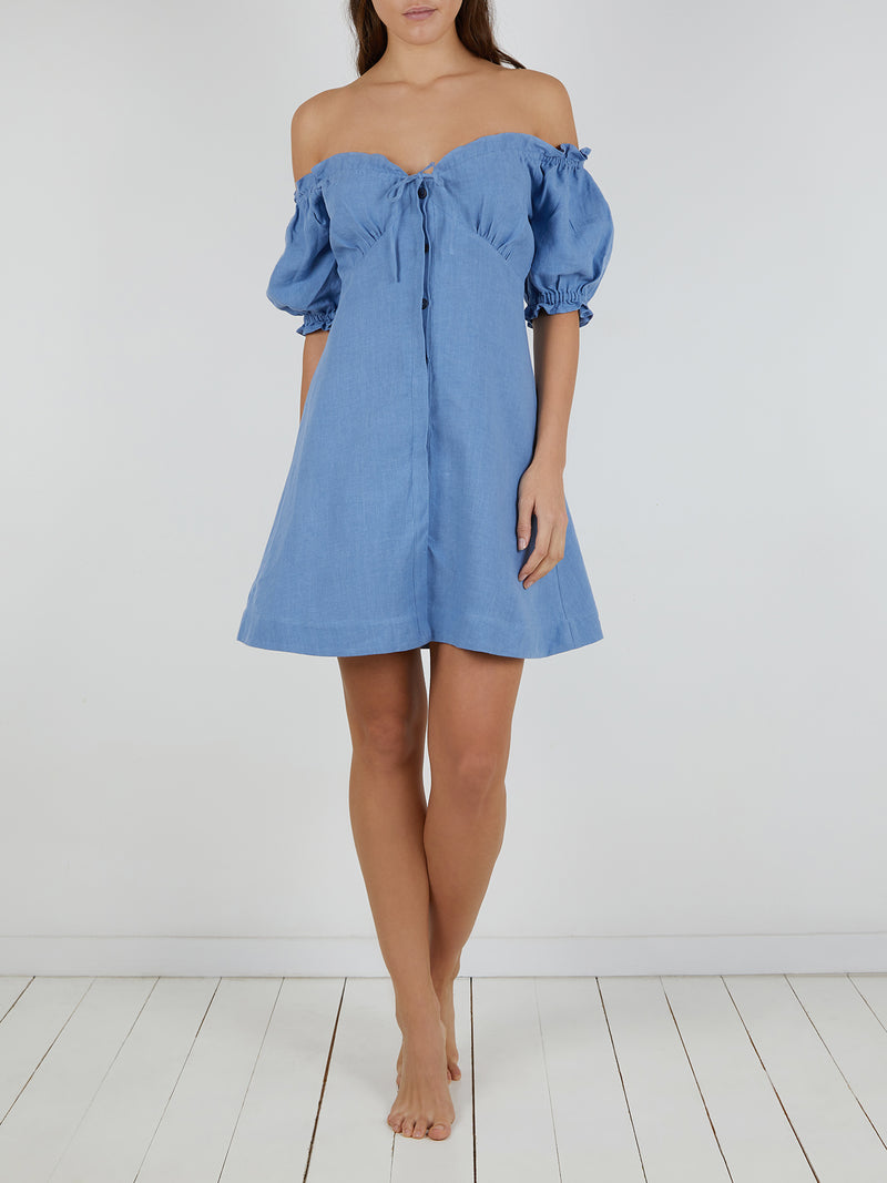 VALENTINA DRESS BABY BLUE