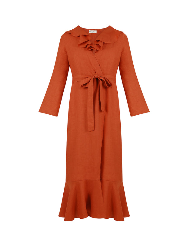 ESME DRESS RUST