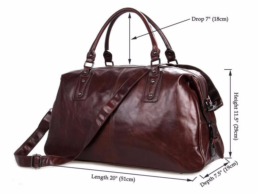 Luxer Genuine Leather Weekend Bag