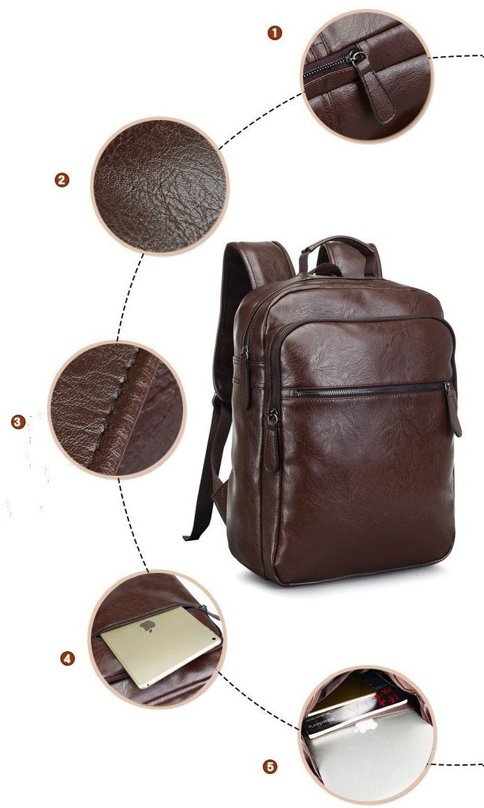 Executive PU Leather Back Pack