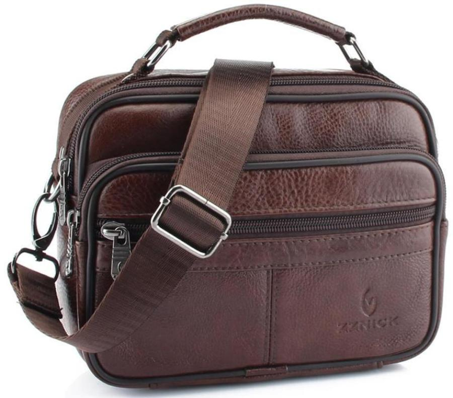 Real Leather Shoulder Bag In Two Sizes