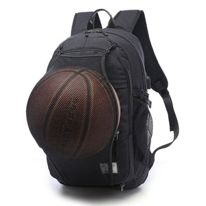 Canvas Gym Bag With Basket Ball Net Holder