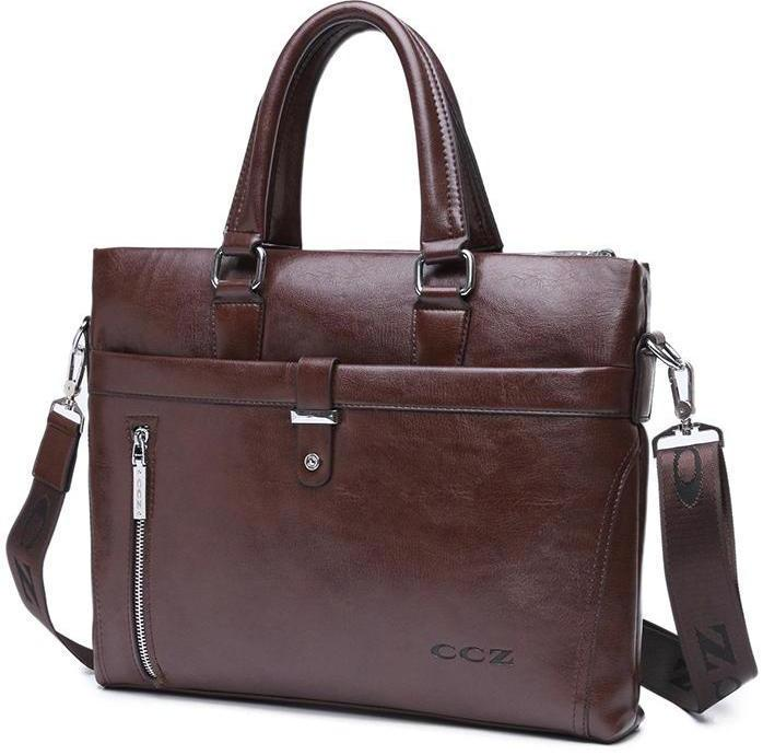 leather brief case for men office work casual