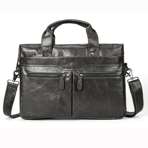 Men's briefcases shoulder and messenger bags in leather canvas and water proof nylon