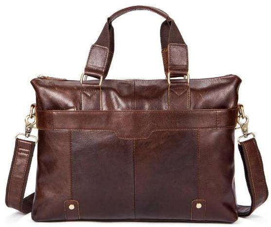 Metro Urban Leather Messenger Bag