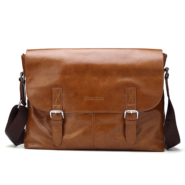 Brumby Tan Real Leather Shoulder Bag