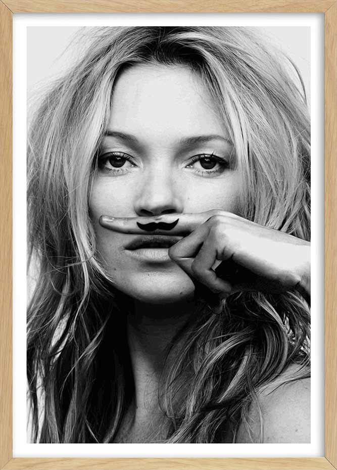 Kate Moss Iconic Moustache