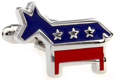 Cufflinks The Democratic Donkey  - Hillary 2016