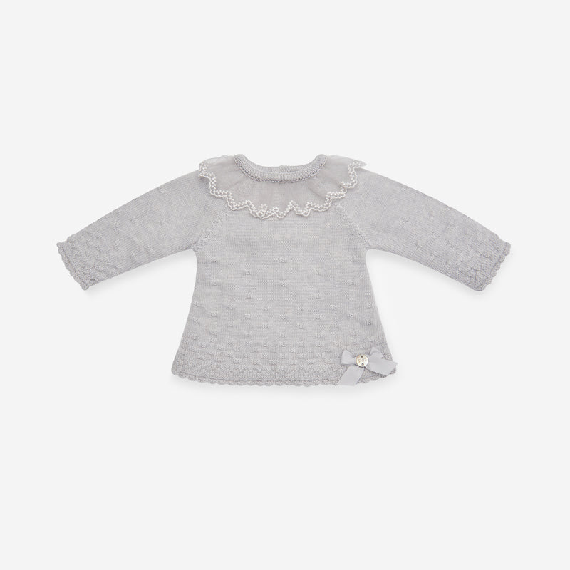 597f74606 SOFT GREY KNITTED JUMPER   BLOOMER SET – Blousey Baby