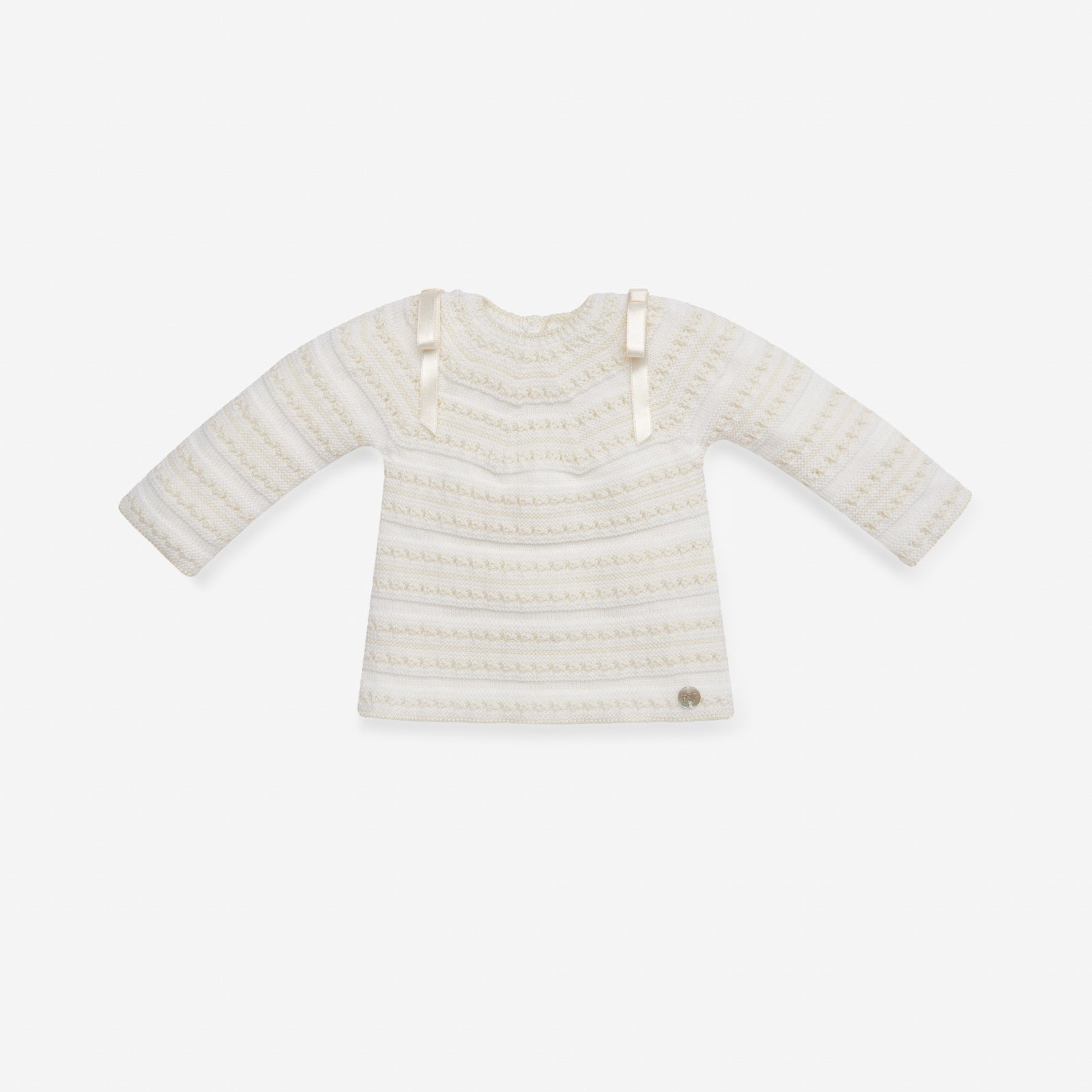 TWO PIECE IVORY KNITTED SET