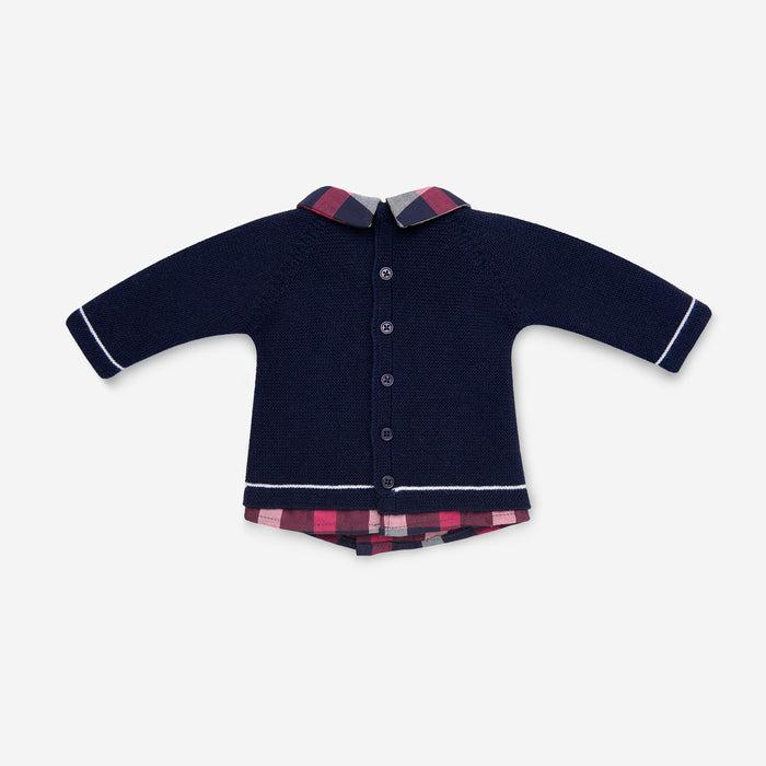 NAVY BLUE KNITTED 2 PEICE SET