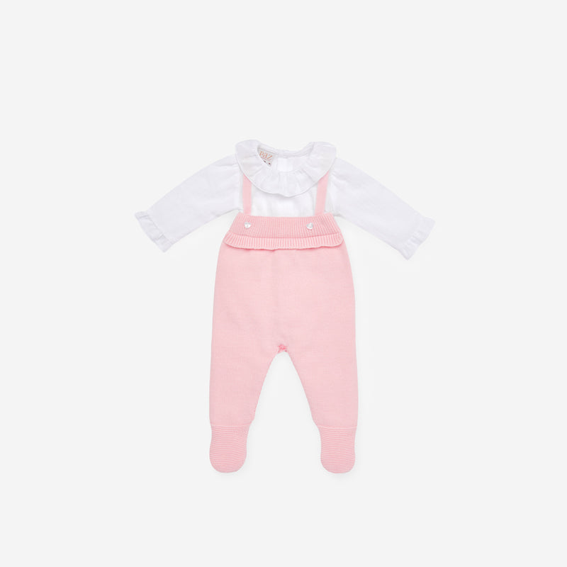 SOFT PINK KNITTED FRAGANCIA ONE PIECE