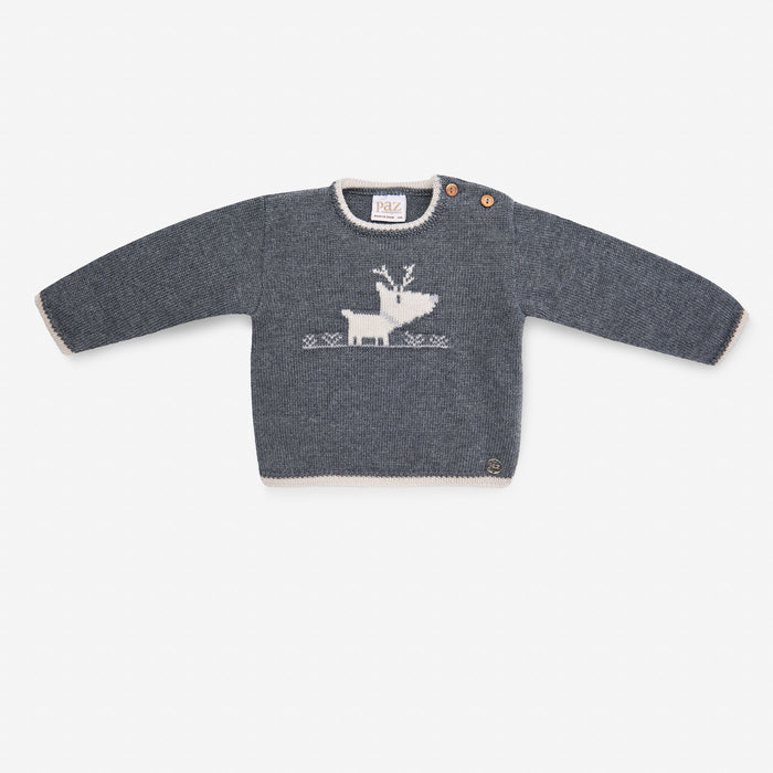 GREY REINDEER JUMPER & SHORTS SET