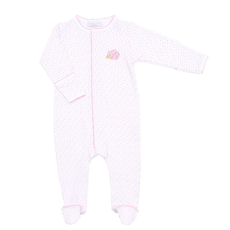 HEDGEHUGS & KISSES - EMBROIDERED BABY GROW (PINK)