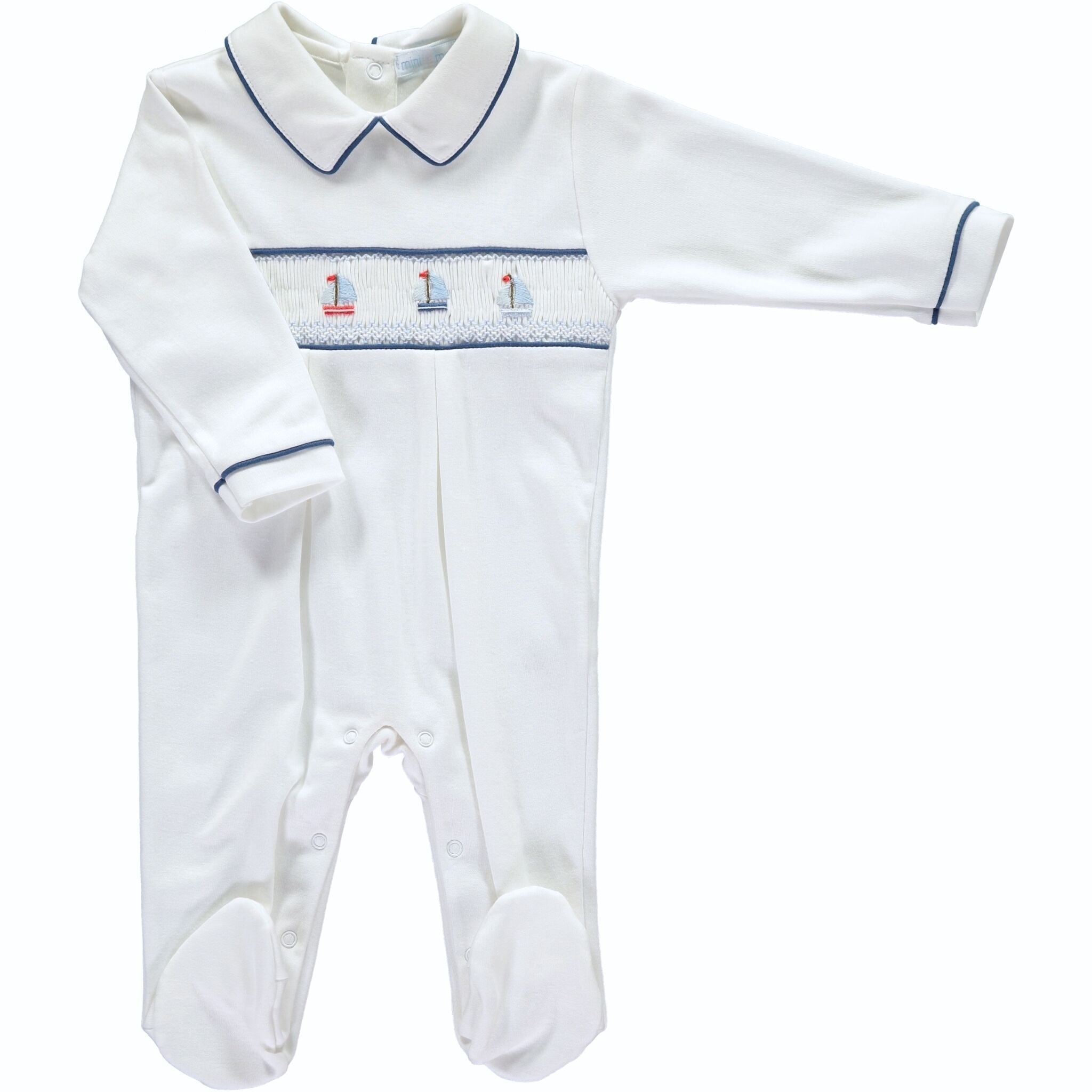 BOATS SMOCKED BABY GROW