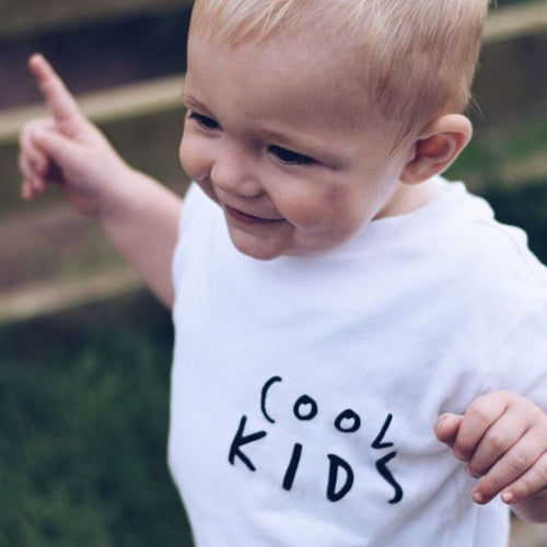 COOL KIDS NEVER GROW UP T SHIRT - WHITE SHORT SLEEVE