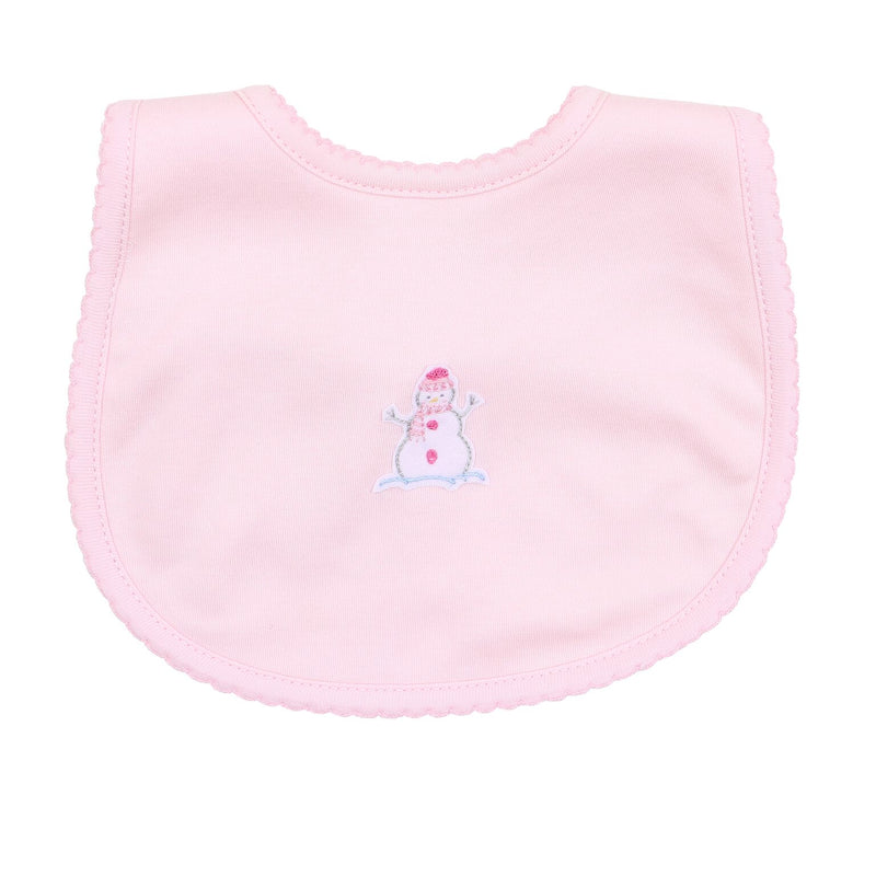 PINK FROSTY FUN BIB