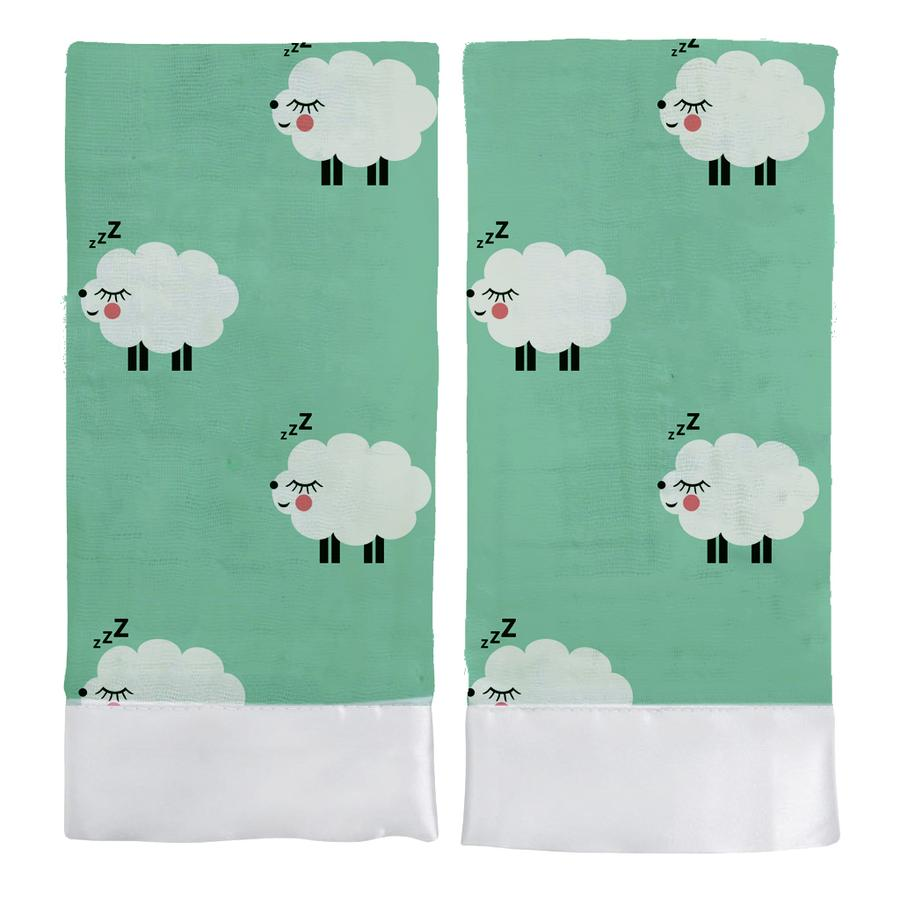 SATIN COMFORTER - GREEN SHEEP
