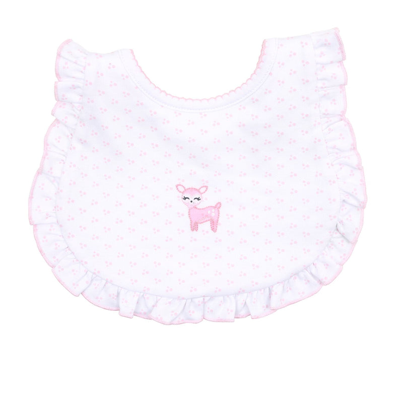 GIRLS EMBROIDERED OH DEER BIB