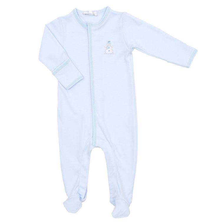 BLUE FROSTY FUN RUFFLE BABYGROW