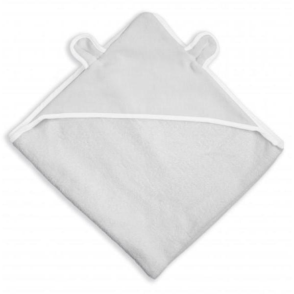 BEAR HOODED TOWEL - PALE GREY
