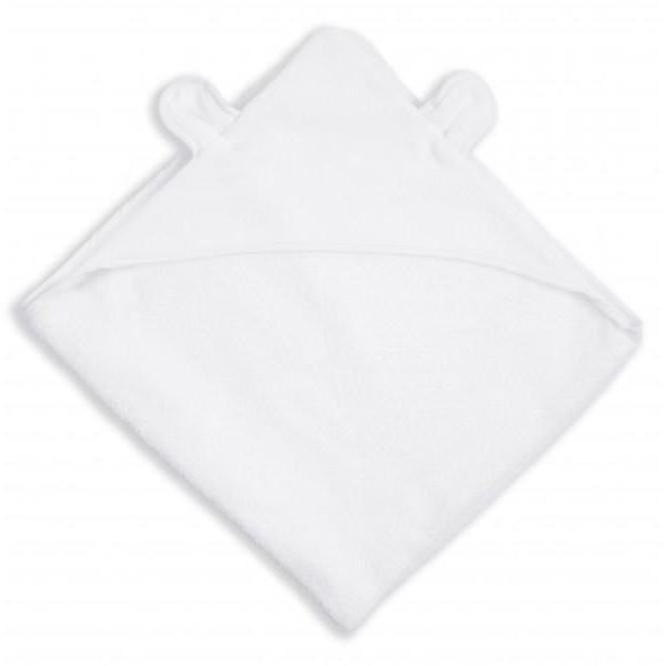 BEAR HOODED TOWEL - WHITE