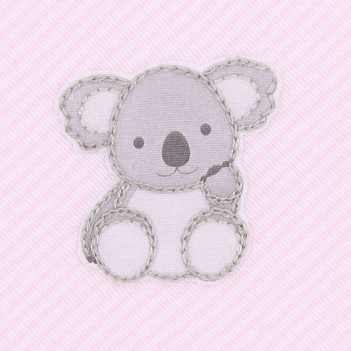 KOALA CUDDLES - EMBROIDERED BABY GROW (PINK)