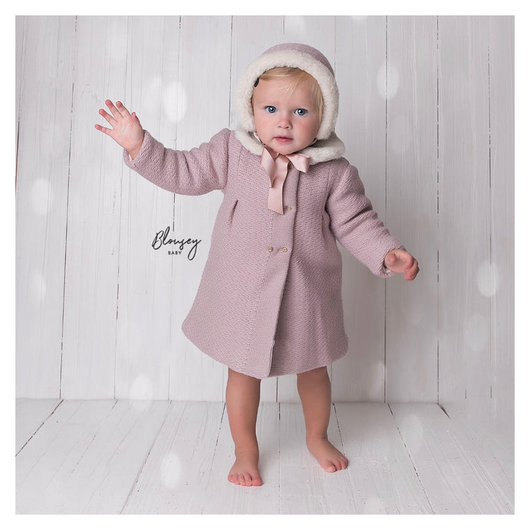PINK KNITTED COAT & BONNET