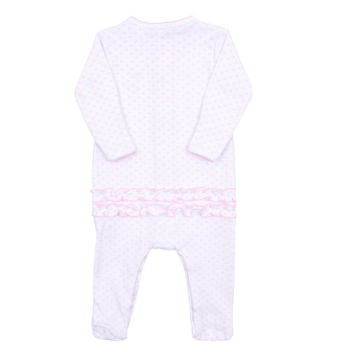 GIRLS EMBROIDERED OH DEER RUFFLE BABYGROW