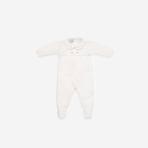 CREAM KNITTED BABYGROW