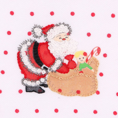 EMBROIDERED SANTA BLANKET