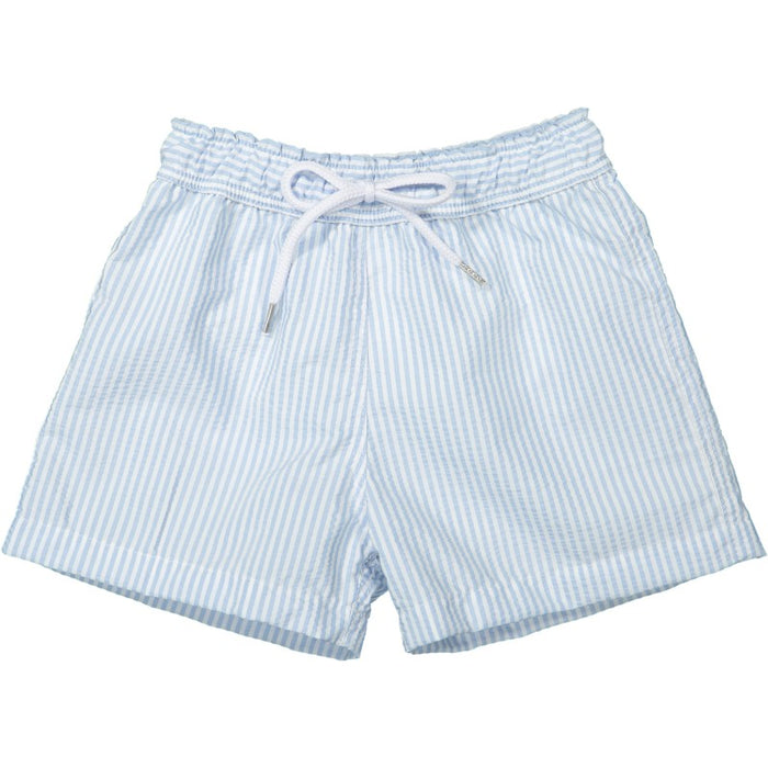 STRIPED SWIM SHORTS  - LIGHT BLUE