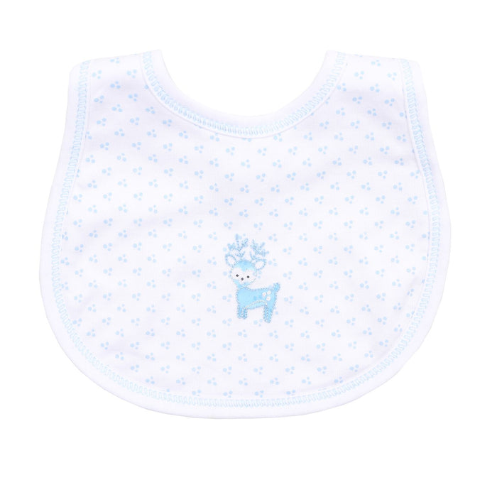 BOYS EMBROIDERED OH DEER BIB
