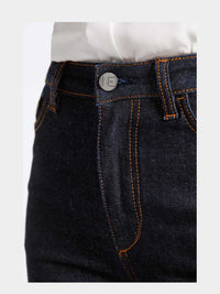 Women - Raw Skinny Jean - Raw Italian Denim - detail front image - one denim