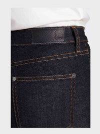 Women - Raw Skinny Jean - Raw Italian Denim - detail back image - one denim