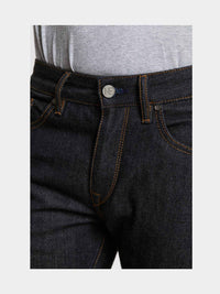 Men - Slim Fit Jean - Japanese Selvedge Denim - detail front image - one denim