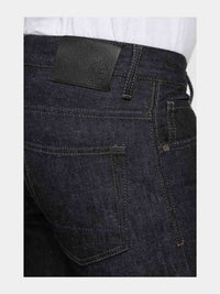 Men - Slim Fit Jean - Selvedge Denim - Italian Raw - detail side image - one denim