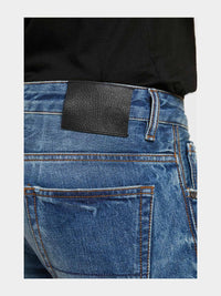 Men - Slim Fit Jean - Selvedge Denim - detail back image - one denim