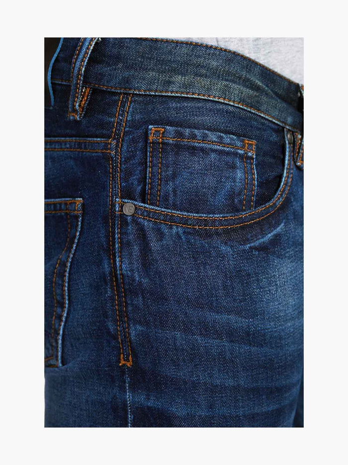 Men - Slim Fit Jean - American Selvedge Denim - detail side image - one denim