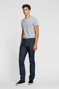 Men - Straight Fit Jean - Raw Japanese Selvedge Denim - front image - one denim