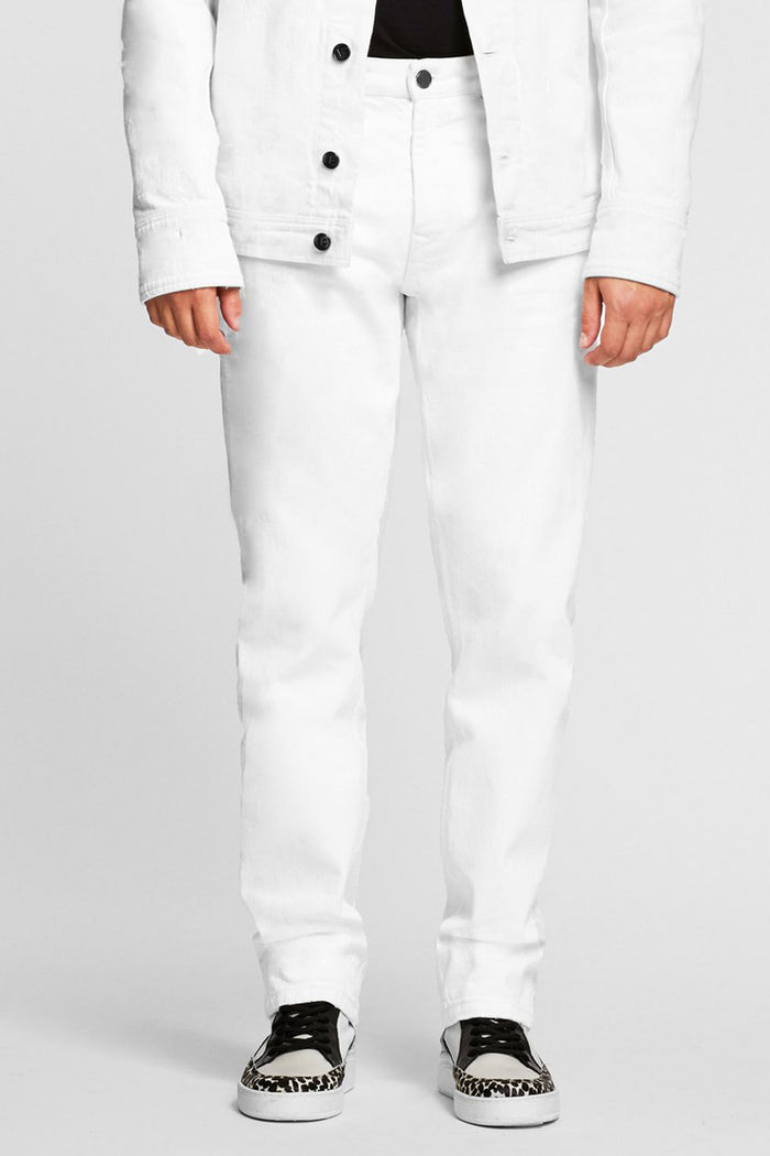 Men - White Oversized Jean - Italian Organic Denim - front image - one denim