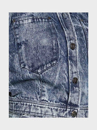 Women - Oversized Denim Jacket - Italian Organic Denim - detail image - one denim