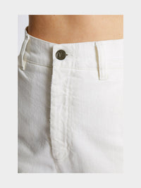 Women - White Denim Harem Pant  - Italian Organic Denim - detail image - one denim