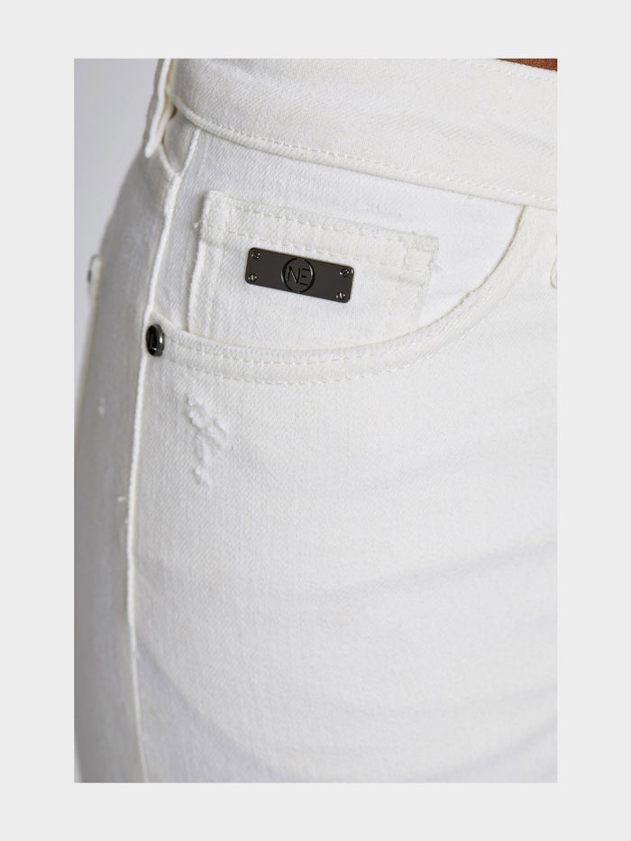 Women - White Skinny Jean - Italian Organic Denim - detail front image - one denim