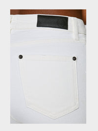 Women - White Skinny Jean - Italian Organic Denim - detail back image - one denim