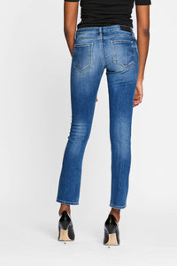Women - Slim Boyfriend Jean - Light - Japanese Selvedge Denim - back image - one denim