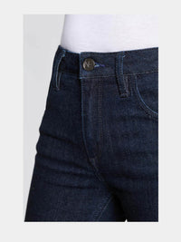 Women - Cropped Flare Jean - Japanese Denim - detail front image - one denim